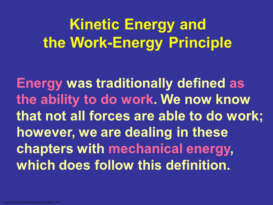the Work-Energy Principle