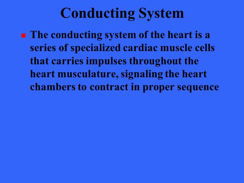 Conducting System