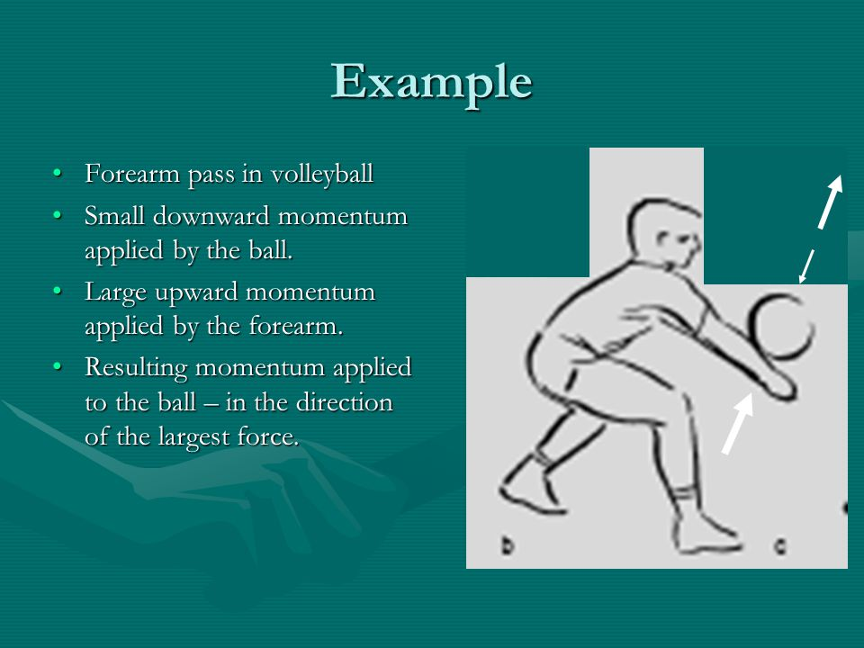 Example Forearm pass in volleyball