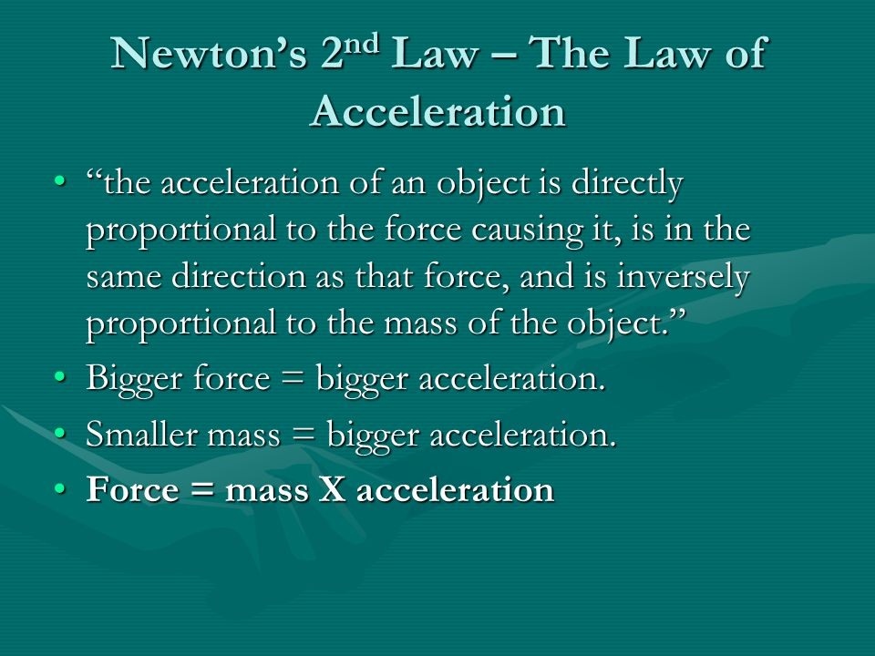 Newton's 2nd Law – The Law of Acceleration
