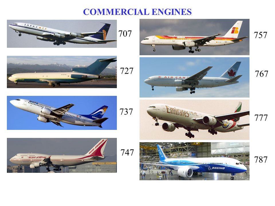 COMMERCIAL ENGINES 707 757 727 767 737 777 747 787