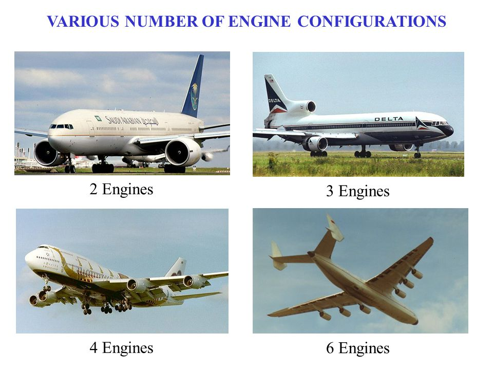 VARIOUS NUMBER OF ENGINE CONFIGURATIONS