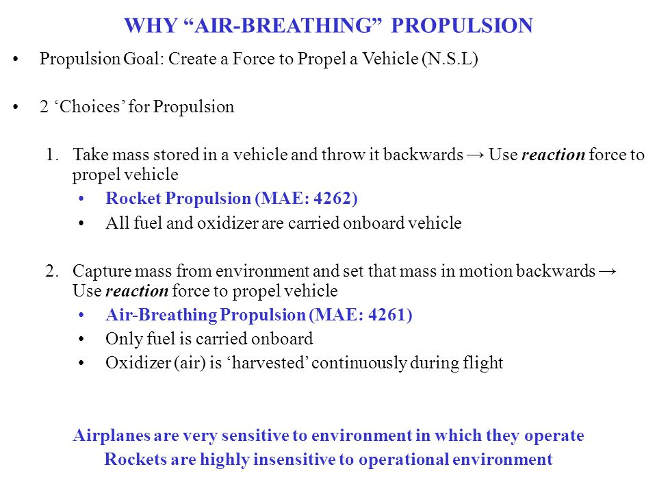 WHY AIR-BREATHING PROPULSION