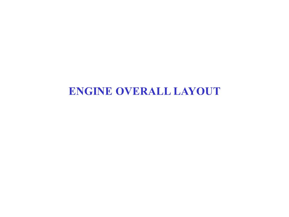 ENGINE OVERALL LAYOUT