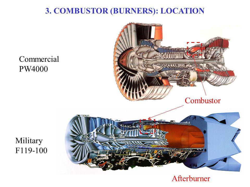 3. COMBUSTOR (BURNERS): LOCATION