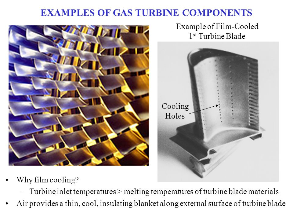 EXAMPLES OF GAS TURBINE COMPONENTS