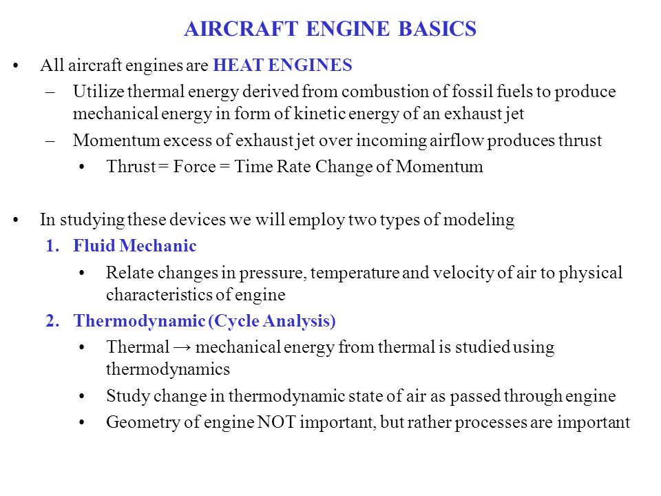 AIRCRAFT ENGINE BASICS