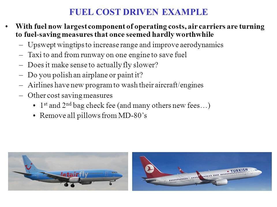 FUEL COST DRIVEN EXAMPLE