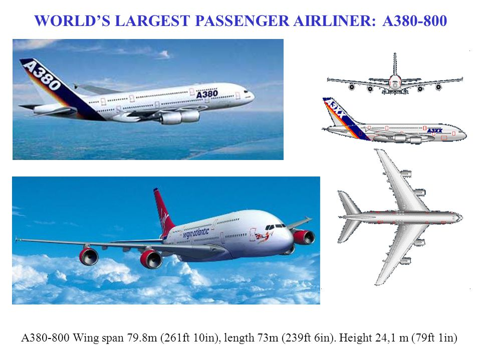 WORLD'S LARGEST PASSENGER AIRLINER: A380-800