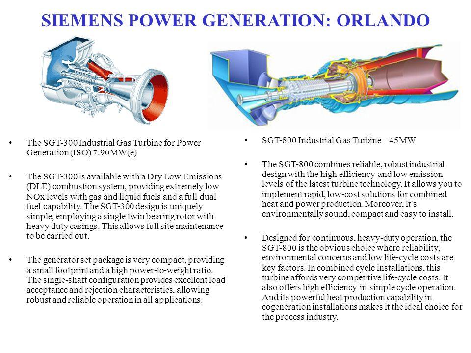 SIEMENS POWER GENERATION: ORLANDO