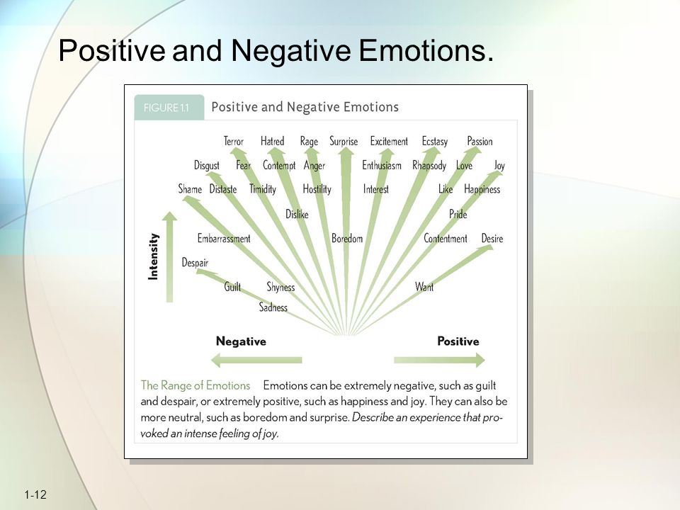 Positive and Negative Emotions.