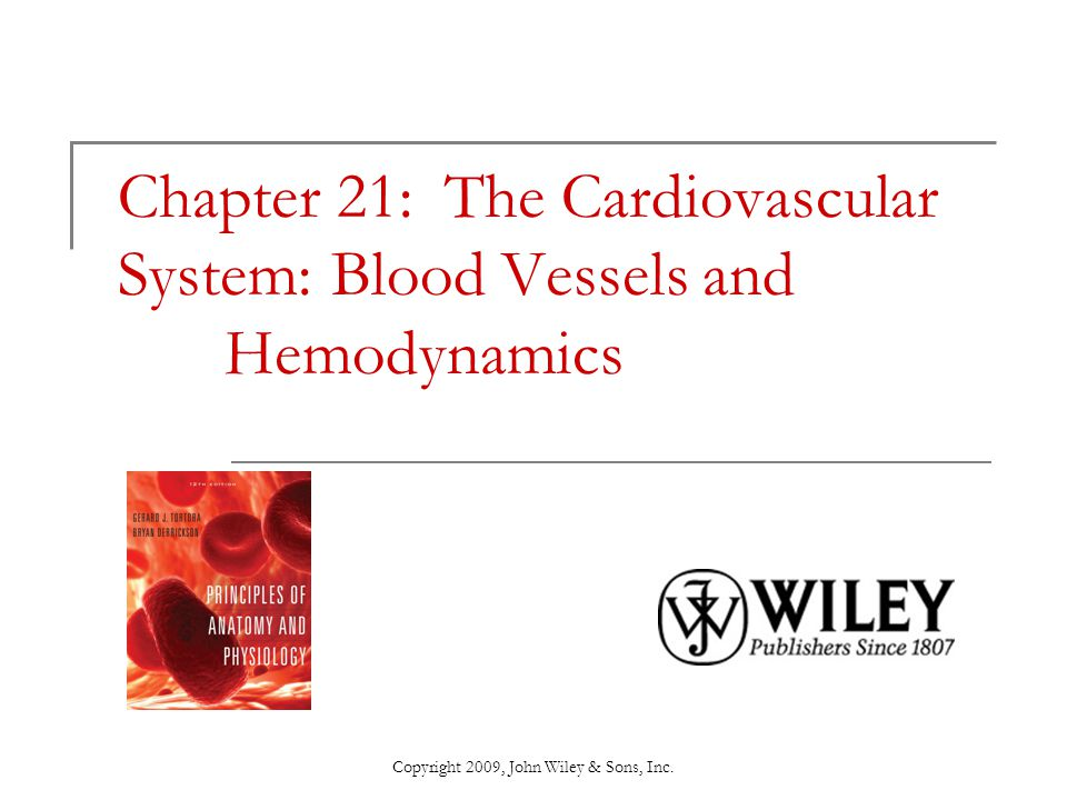 Chapter 21 The Cardiovascular System Blood Vessels And