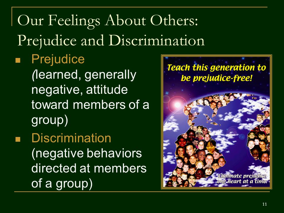 Our Feelings About Others: Prejudice and Discrimination
