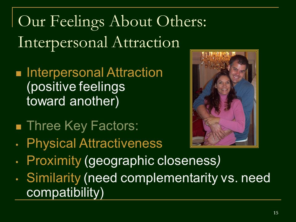Our Feelings About Others: Interpersonal Attraction
