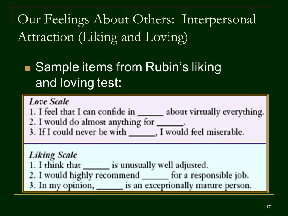 Our Feelings About Others: Interpersonal Attraction (Liking and Loving)