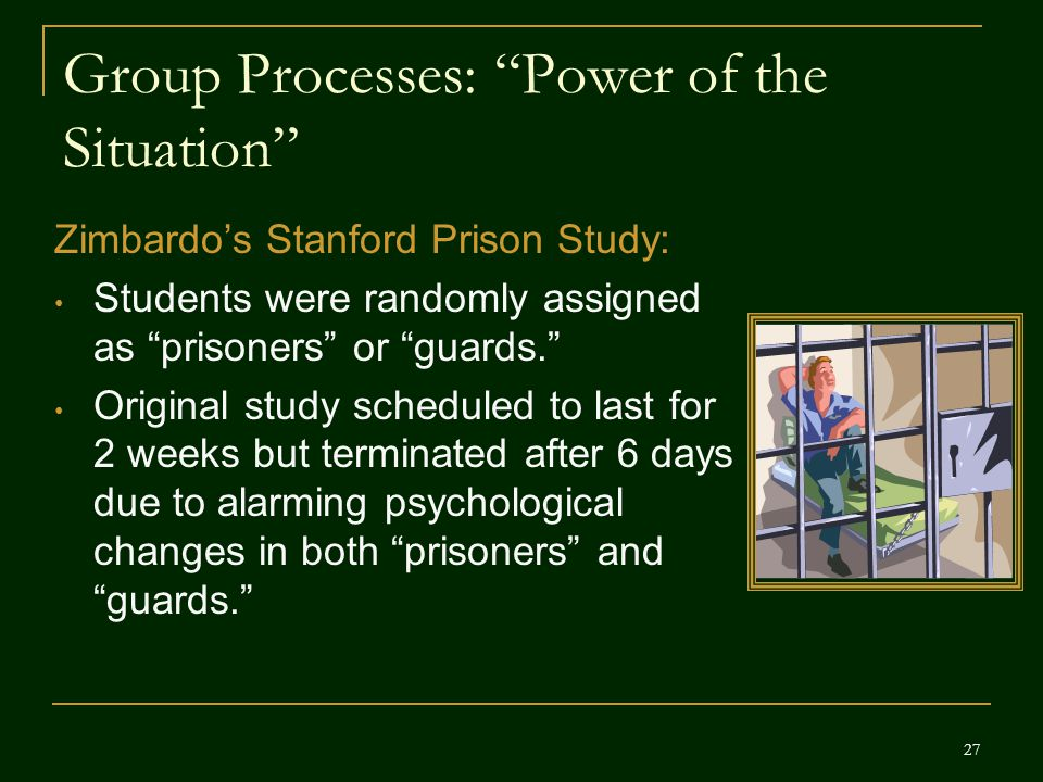 Group Processes: Power of the Situation