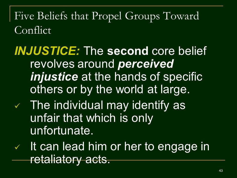 Five Beliefs that Propel Groups Toward Conflict