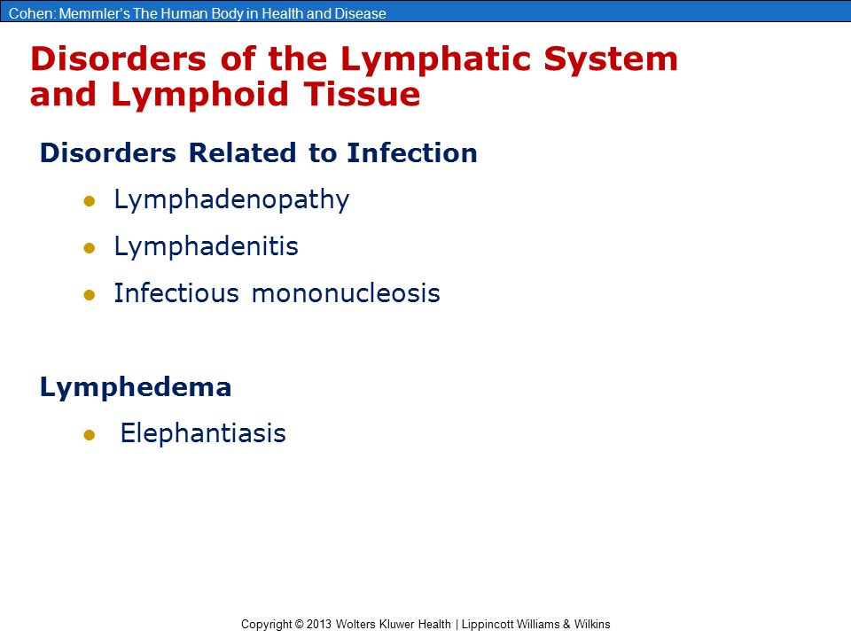 Disorders of the Lymphatic System and Lymphoid Tissue