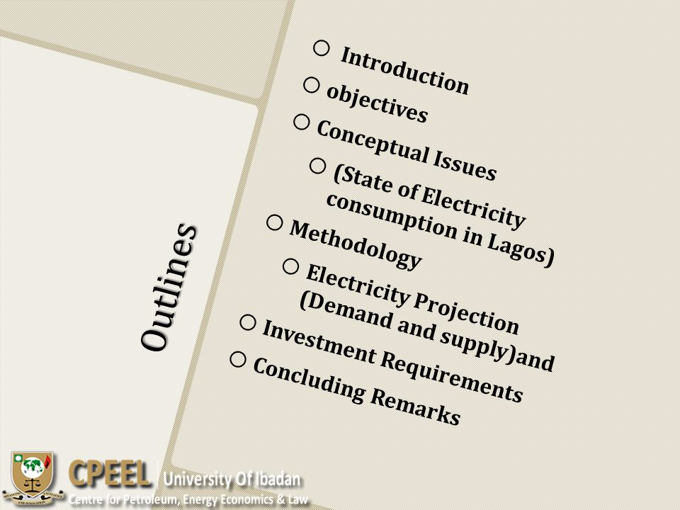 Outlines Introduction objectives Conceptual Issues