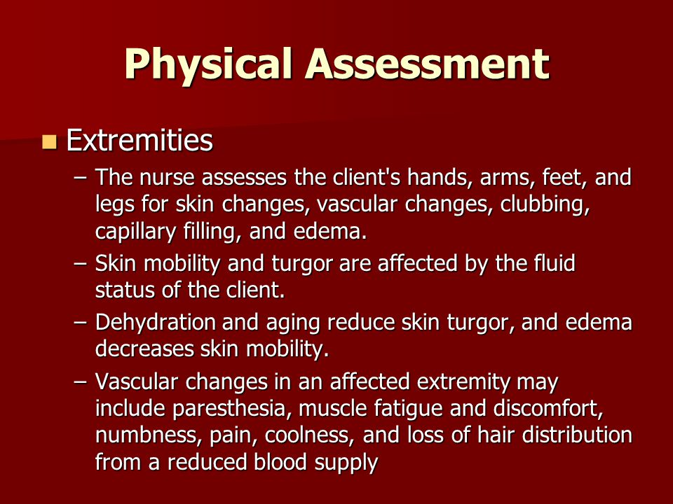 Physical Assessment Extremities