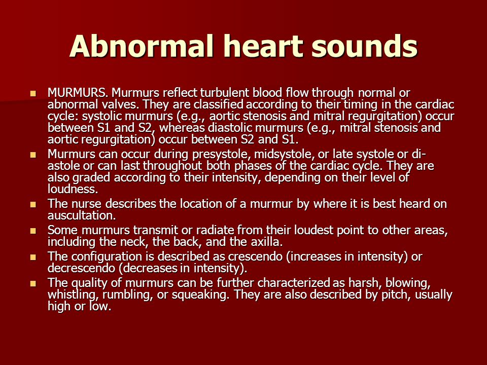 Abnormal heart sounds