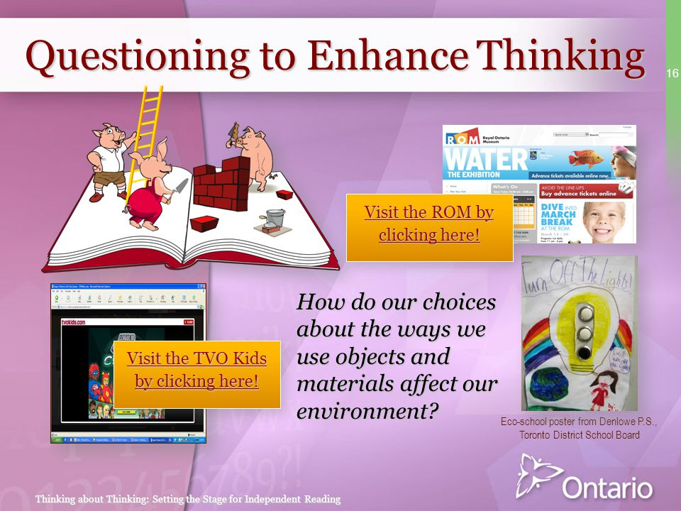 Questioning to Enhance Thinking