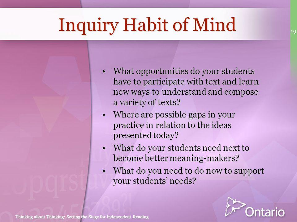 Inquiry Habit of Mind