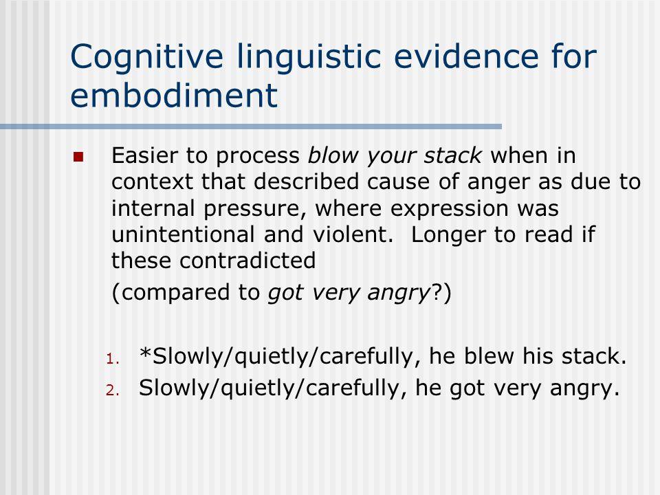 Cognitive linguistic evidence for embodiment