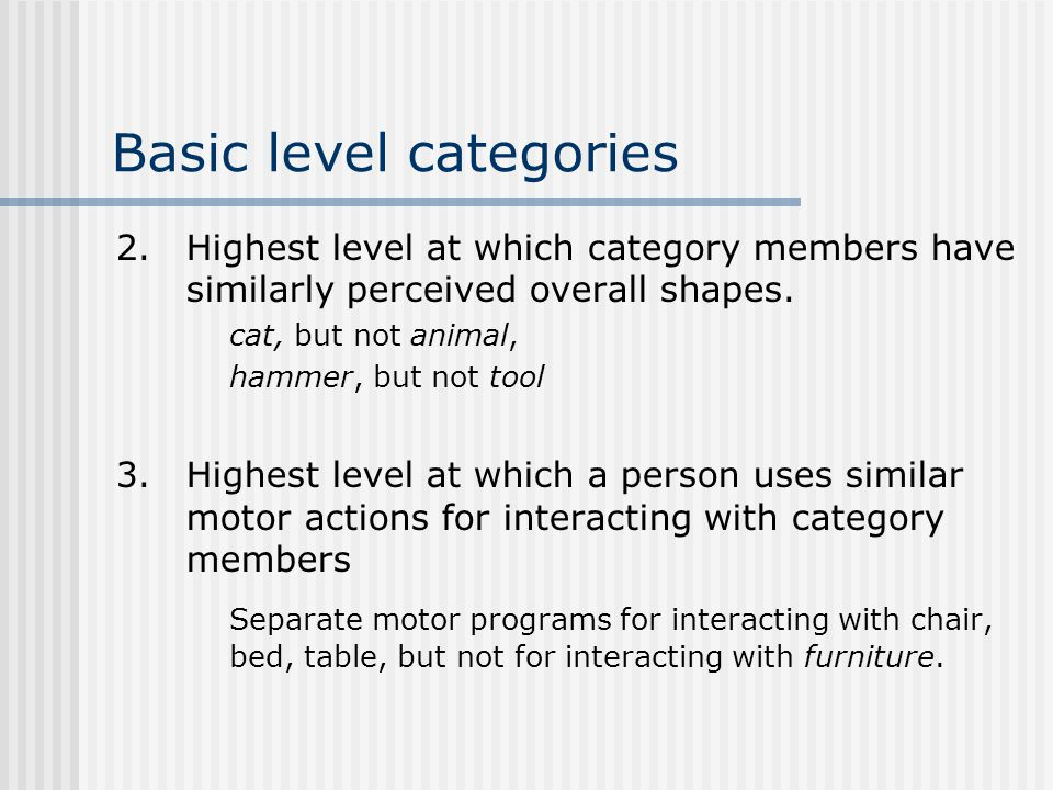 Basic level categories