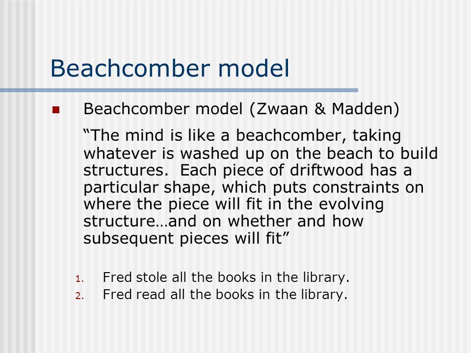 Beachcomber model Beachcomber model (Zwaan & Madden)