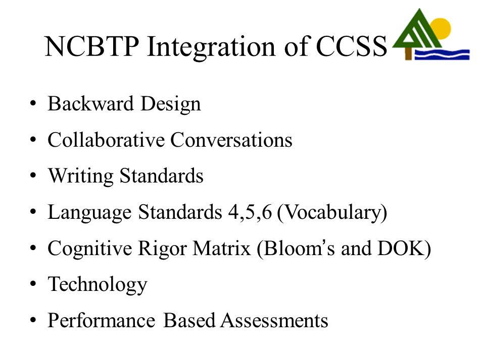 NCBTP Integration of CCSS