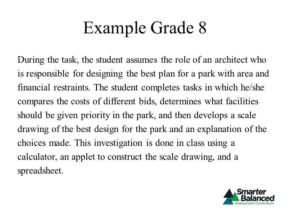 Example Grade 8