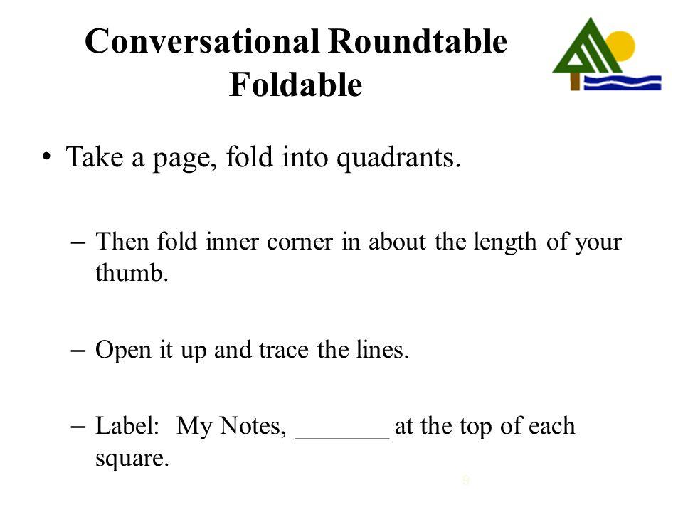 Conversational Roundtable Foldable