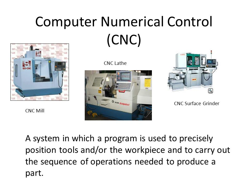 Computer Numerical Control (CNC)
