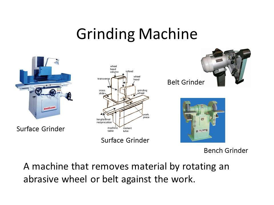 Grinding Machine Belt Grinder. Surface Grinder. Surface Grinder. Bench Grinder.