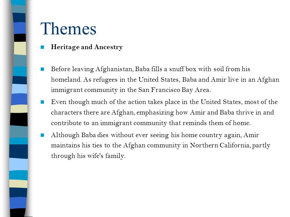 Themes Heritage and Ancestry