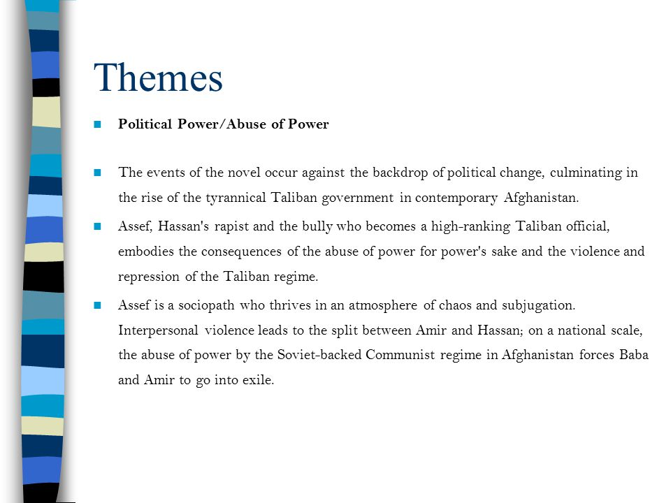 Themes Political Power/Abuse of Power