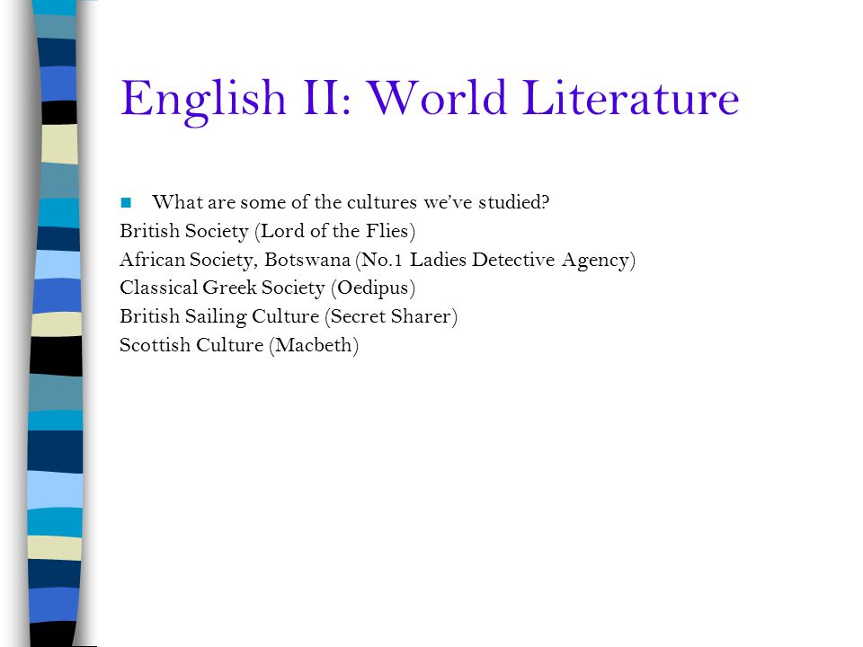 English II: World Literature
