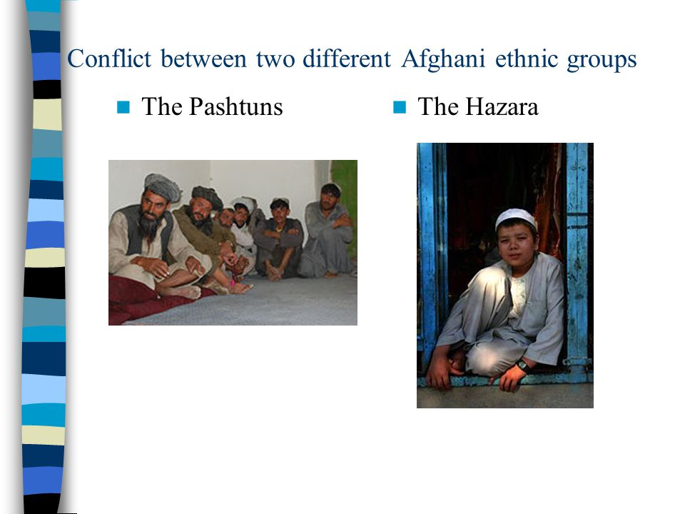 Conflict between two different Afghani ethnic groups