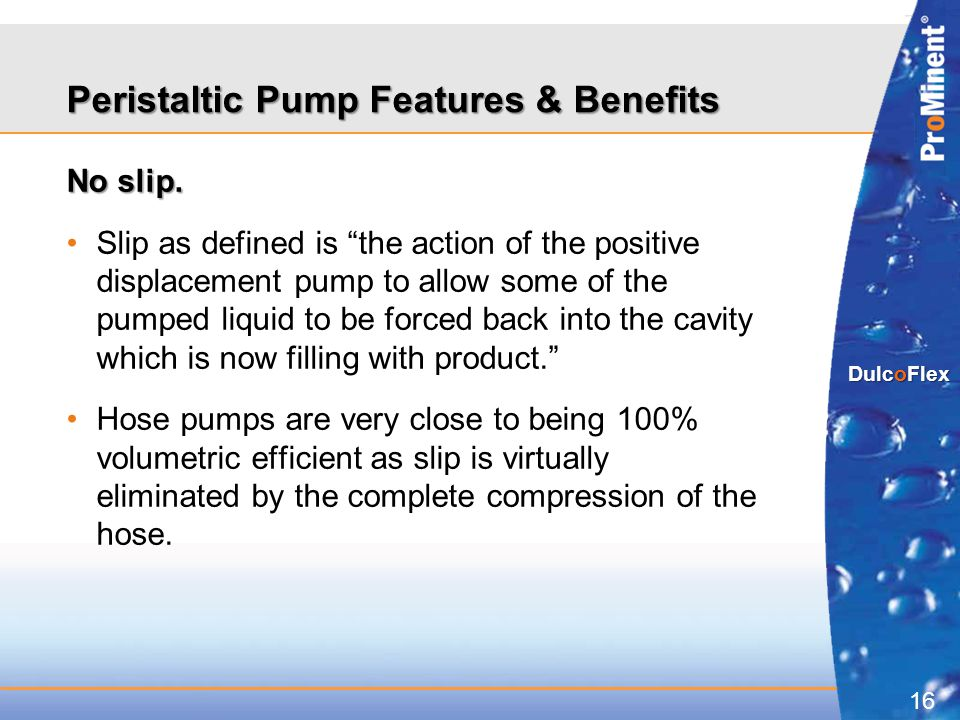 Peristaltic Pump Features & Benefits