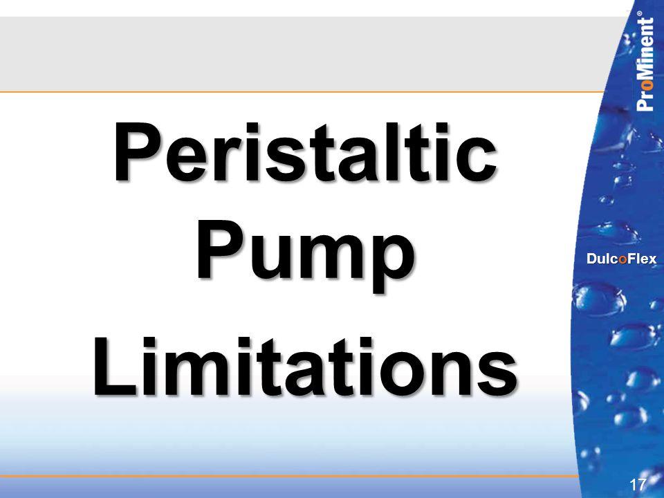 Peristaltic Pump Limitations