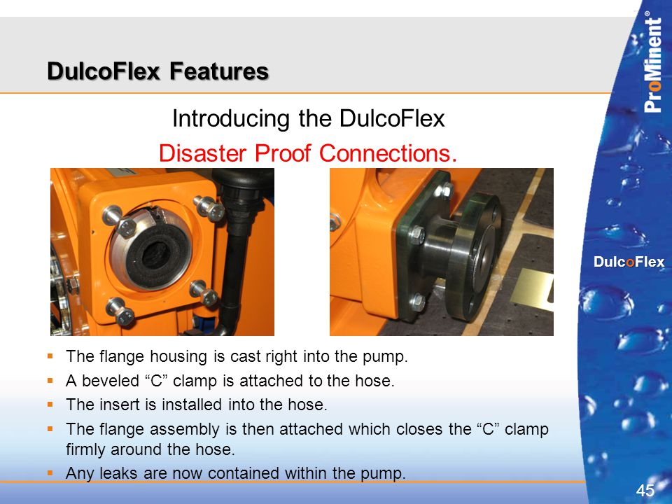 Introducing the DulcoFlex Disaster Proof Connections.