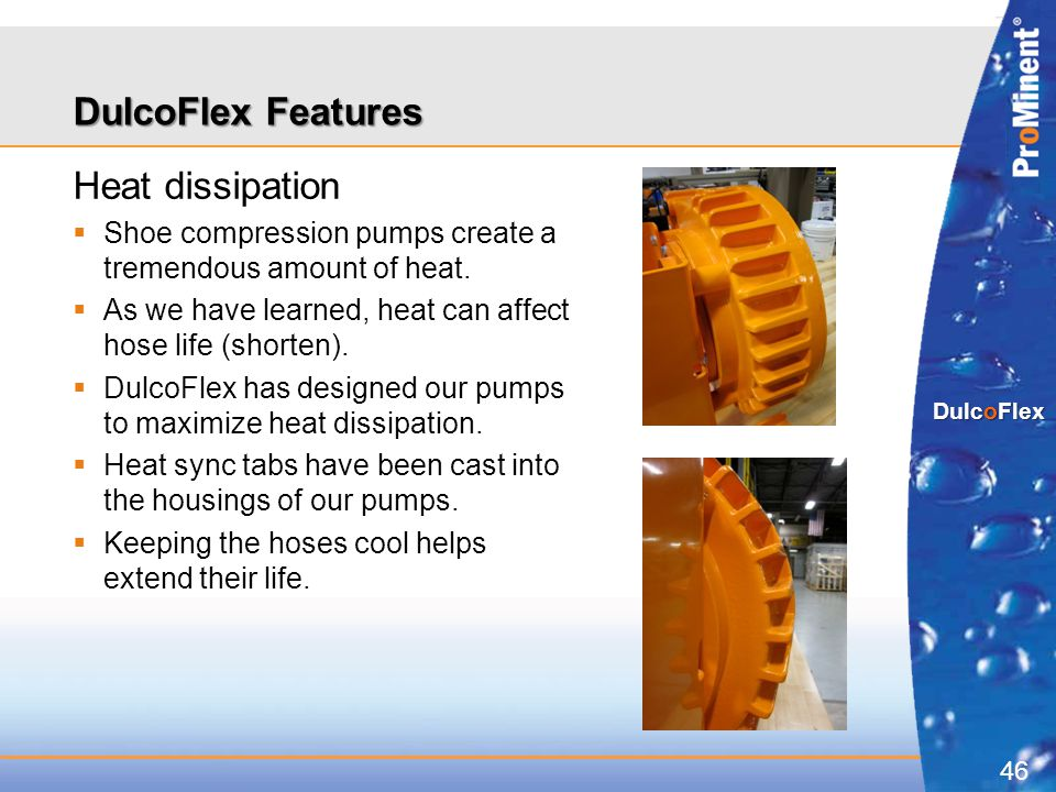 DulcoFlex Features Heat dissipation