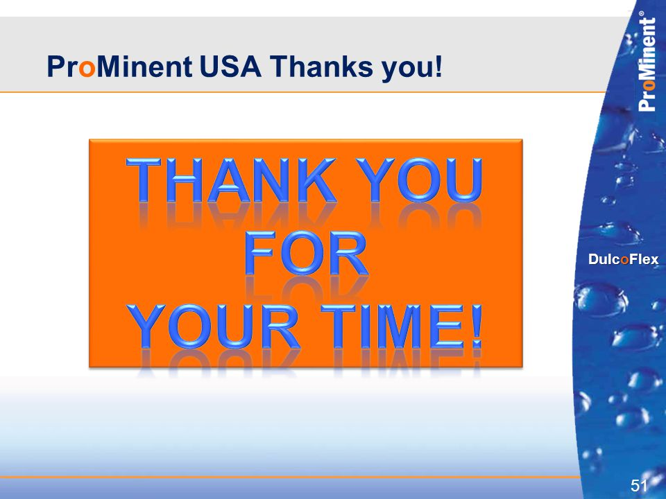 ProMinent USA Thanks you!