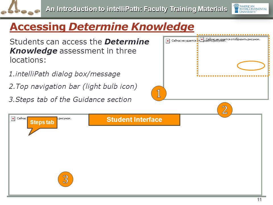Accessing Determine Knowledge