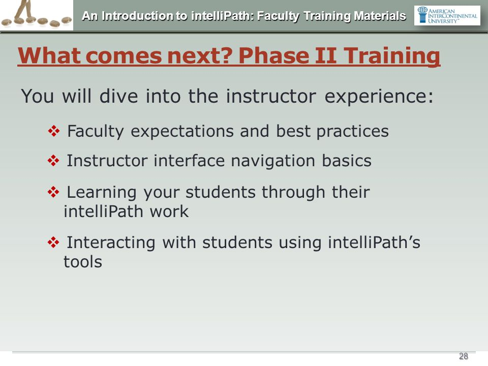 What comes next Phase II Training