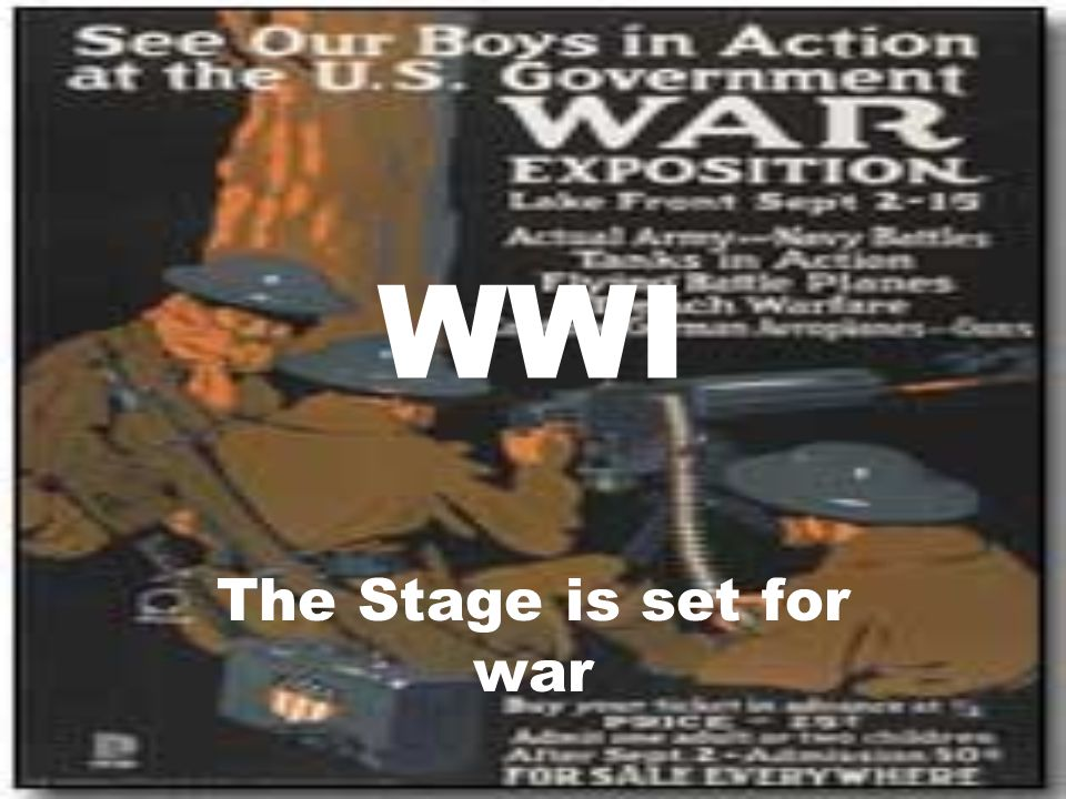WWI The Stage is set for war