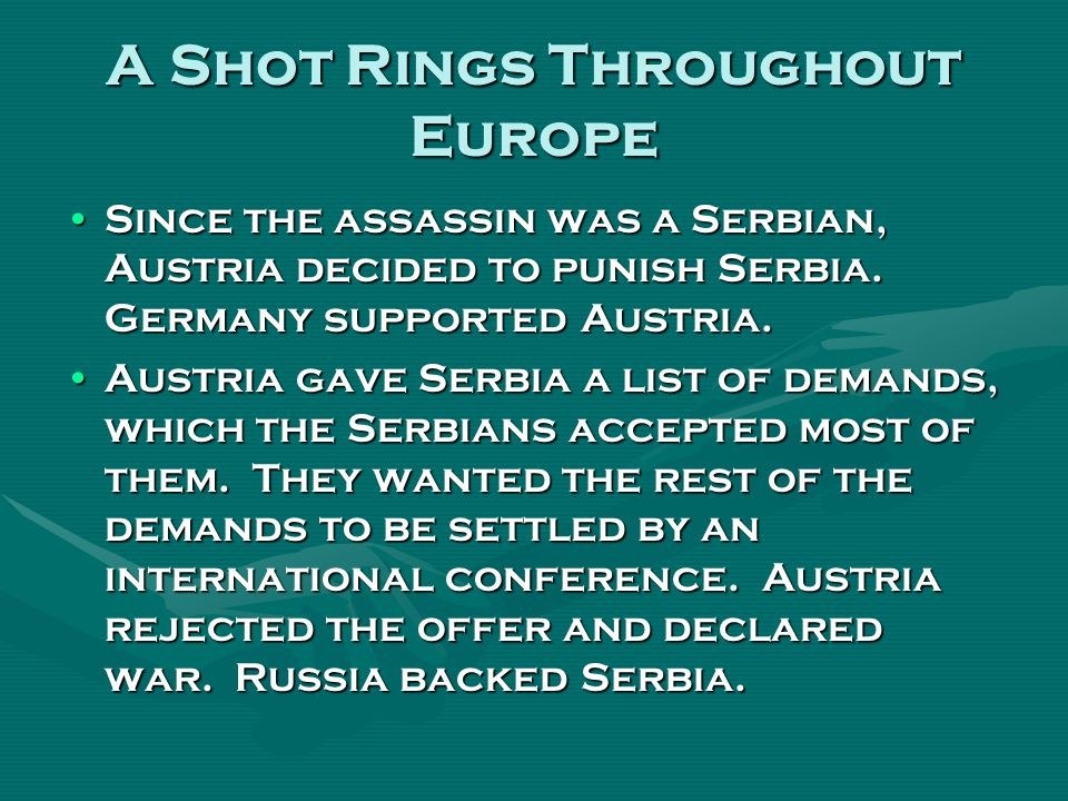 A Shot Rings Throughout Europe