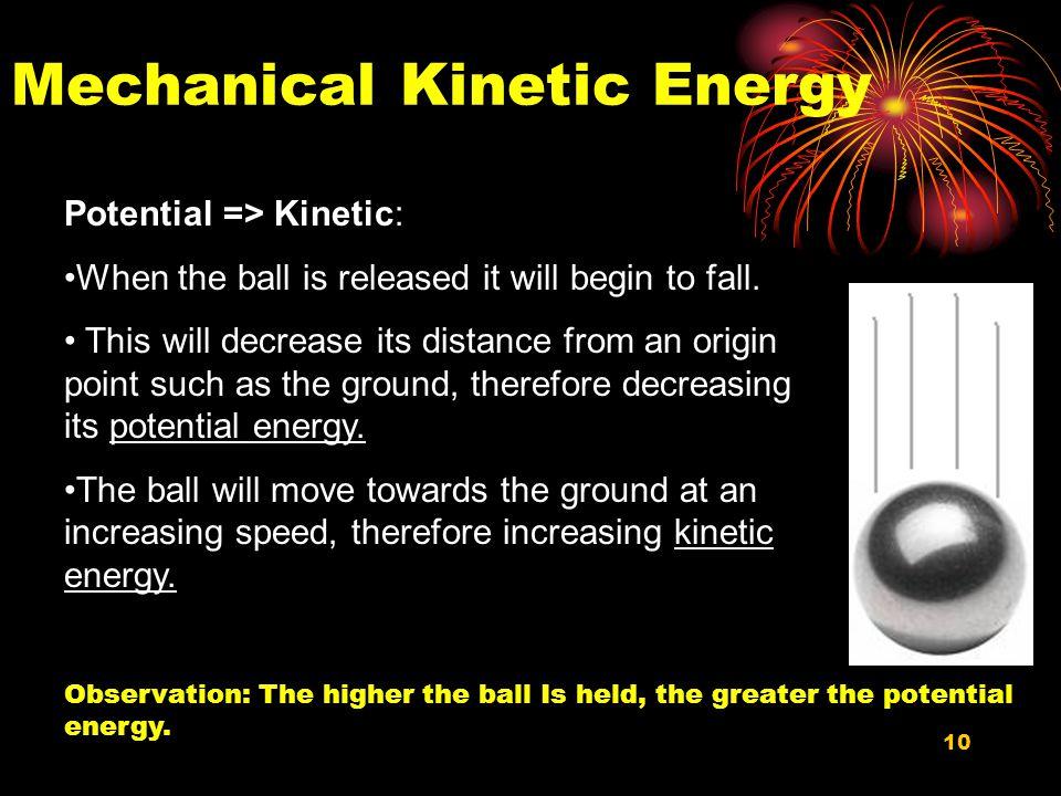 Mechanical Kinetic Energy