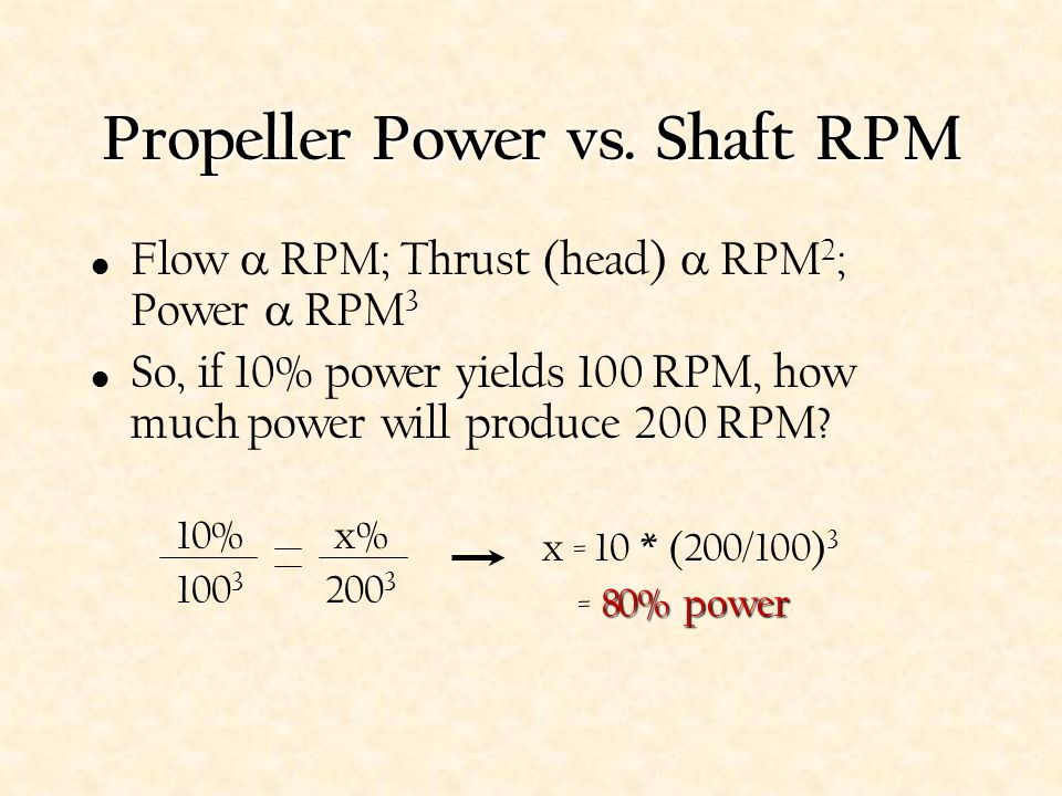 Propeller Power vs. Shaft RPM
